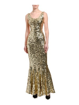 Dolce & Gabbana Sequined Sleeveless Mermaid Gown