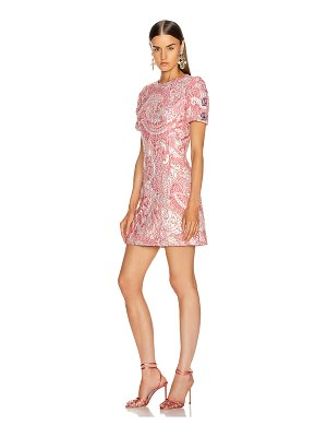 Dolce & Gabbana short sleeve embellished sleeve dress