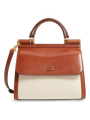 Dolce & Gabbana sicily 58 canvas & leather satchel
