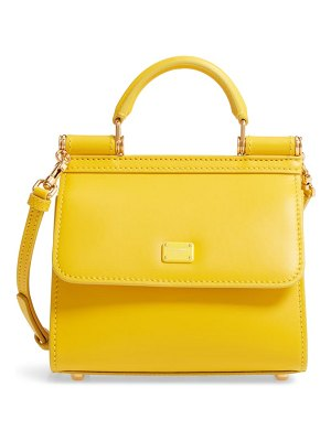 Dolce & Gabbana sicily 58 mini top handle leather satchel