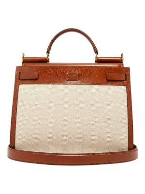 Dolce & Gabbana sicily 62 large canvas and leather bag