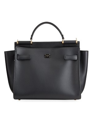 Dolce & Gabbana Sicily Medium Leather Top-Handle Bag