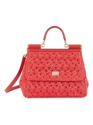 Dolce & Gabbana sicily raffia top handle bag