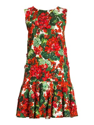 Dolce & Gabbana sleeveless floral a-line dress