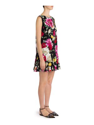 Dolce & Gabbana sleeveless floral-print dress
