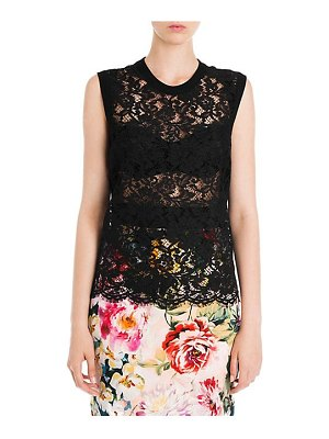 Dolce & Gabbana sleeveless lace front shell top