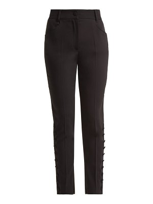Dolce & Gabbana slim leg wool blend trousers