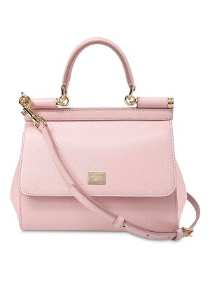 Dolce   Gabbana Small Sicily Dauphine Leather Bag in Pink   Shopstasy 6955a74935