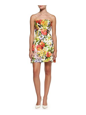 Dolce & Gabbana Strapless Floral Brocade Dress