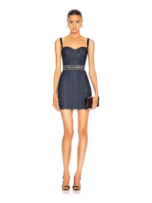 Dolce & Gabbana strapless mini dress