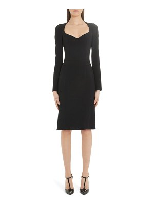 Dolce & Gabbana sweetheart neck long sleeve cady crepe dress