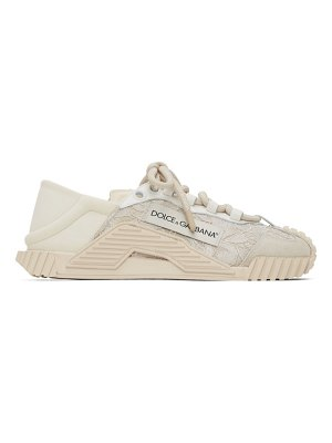 Dolce & Gabbana white lace and leather ns1 sneakers