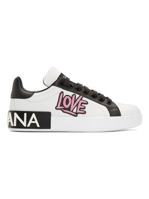 Dolce & Gabbana white low-top love sneakers