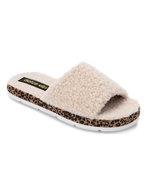 Dolce Vita faux fur platform slide slipper