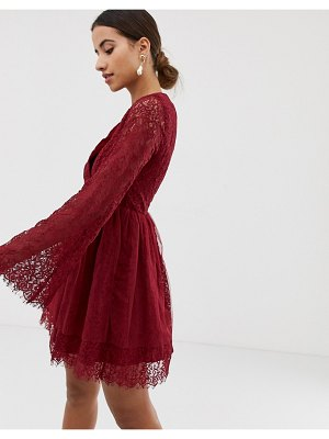 Dolly & Delicious long sleeved wrap front dress