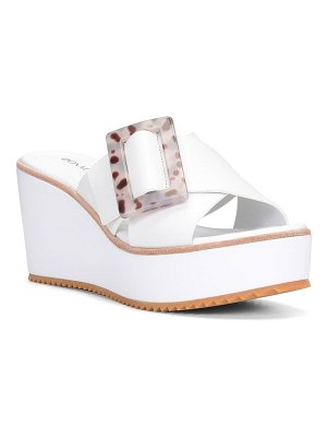Donald Pliner illiad platform wedge slide sandal