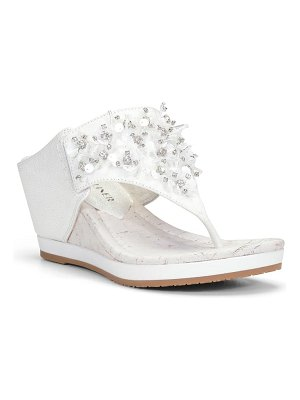 Donald Pliner malone crystal & sequin embellished wedge slide sandal