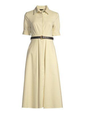 Donna Karan belted fit-&-flare dress