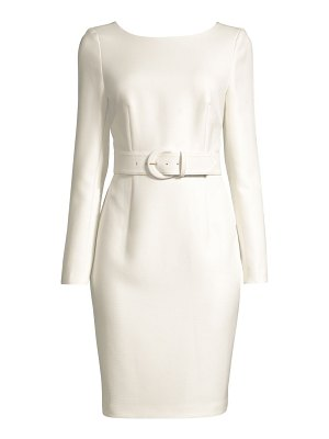 Donna Karan belted long-sleeve sheath dress
