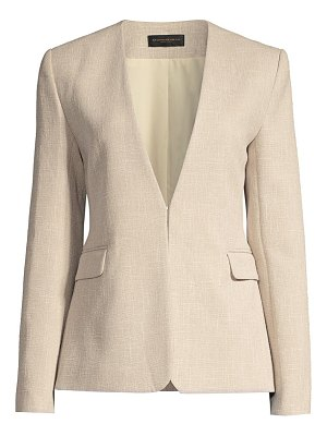 Donna Karan collarless tweed jacket