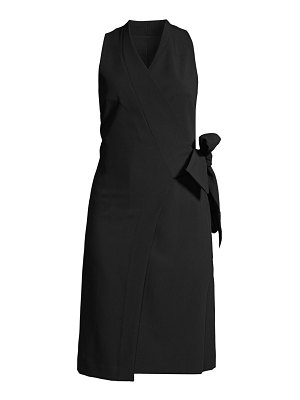 Donna Karan double weave wrap dress