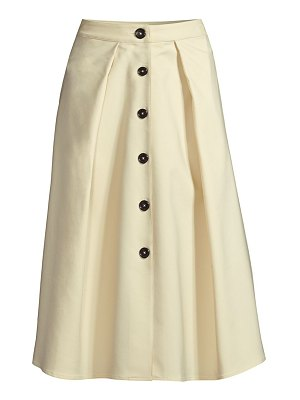 Donna Karan flare button midi skirt
