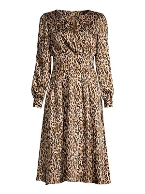 Donna Karan leopard-print georgette dress