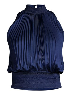 Donna Karan pleated sateen top