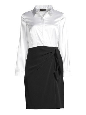 Donna Karan satin bodice shirtdress