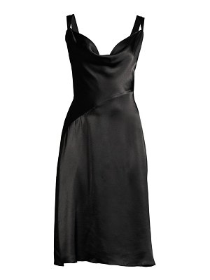 Donna Karan satin cowl neck dress