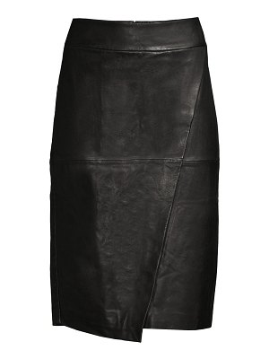 Donna Karan seamed leather pencil skirt