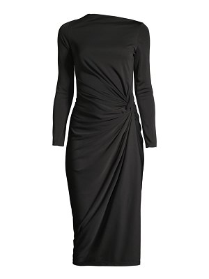 Donna Karan side ruched jersey dress