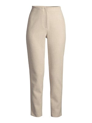 Donna Karan straight-leg tweed ankle pants