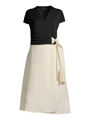 Donna Karan two-tone wrap dress