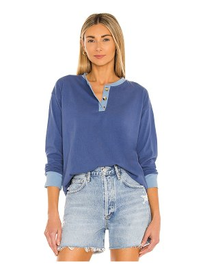 Donni. duo henley long sleeve top