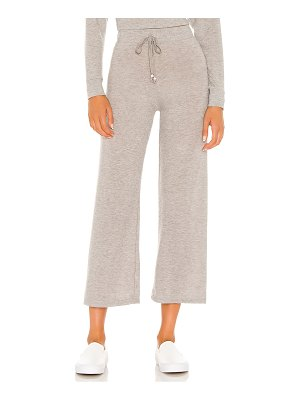 Donni. sweater cropped flare sweatpant