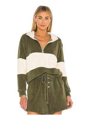 Donni. terry half zip pullover