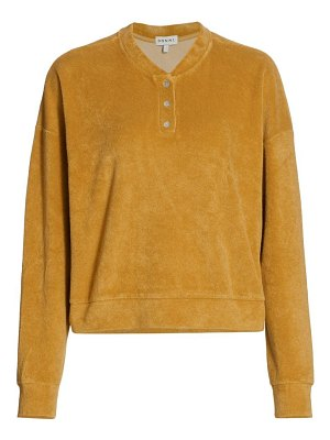 DONNI terry henley pullover