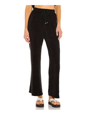 Donni. terry wide leg pant