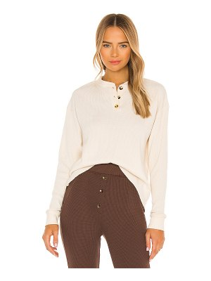 Donni. thermal henley top
