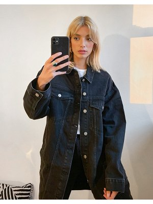 Dr Denim khalila oversized denim jacket in black