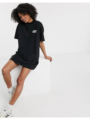 Dr Denim logo t shirt dress in black