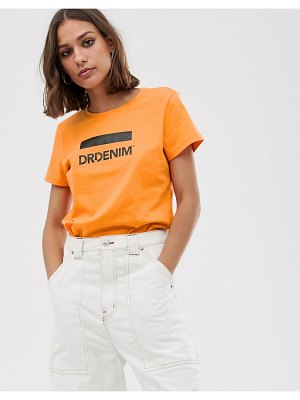 Dr Denim logo t shirt-orange