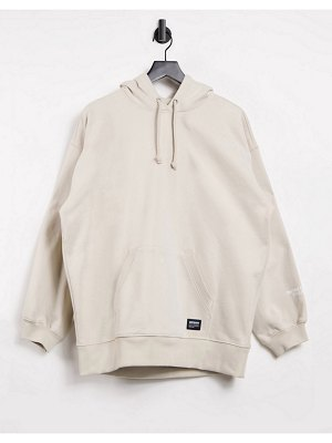 Dr Denim longline hoodie in cashew-brown