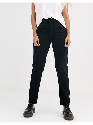 Dr Denim nora high rise mom jean in cord-black