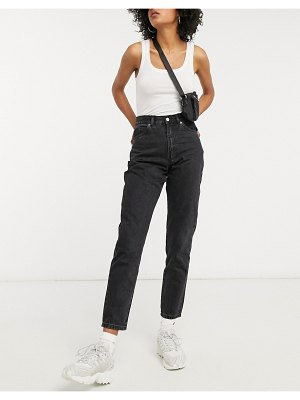 Dr Denim nora high rise mom jeans in black