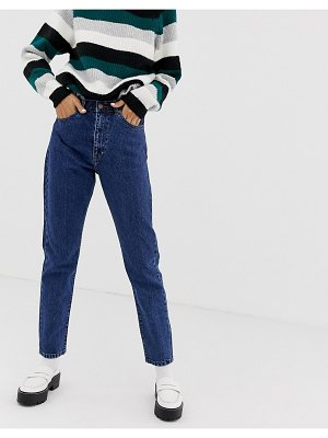 Dr Denim nora super high rise mom jean-blue