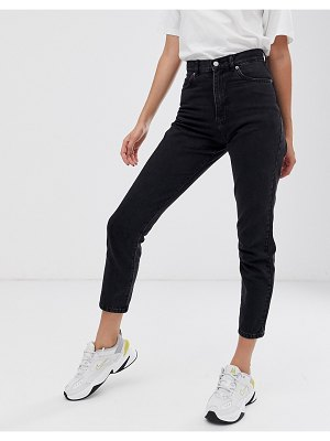 Dr Denim nora super high rise mom jean-black