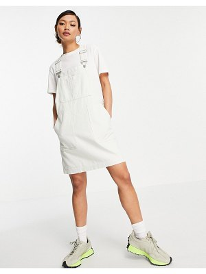 Dr Denim overall dress in off white