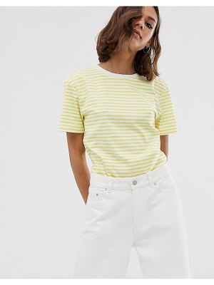 Dr Denim relaxed fit stripe t shirt-yellow